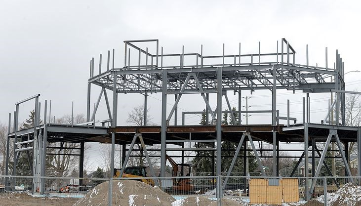 New two-storey Tim Hortons in Bowmanville is being built on Green Road - Sabrina Byrnes/Metroland